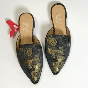 Franco Sarto Russo Mules Floral Slides pointy toe